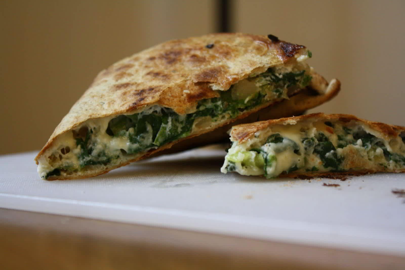 Cara's Spinach-Pie Quesadillas Quick Weeknight Meals Recipe Contest 2009: gallery image 1