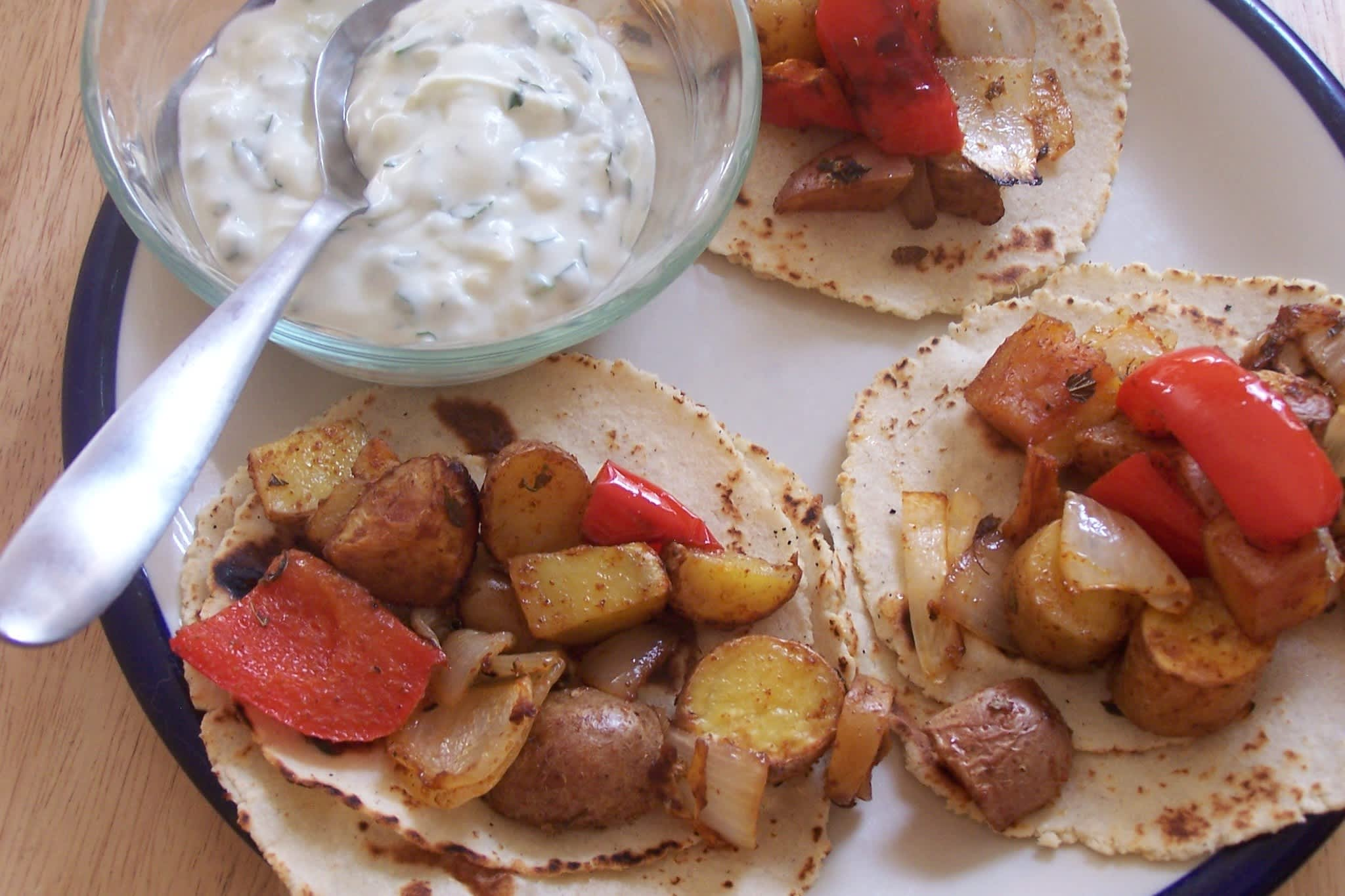 Taylor's Roasted Potato Tacos with Creamy Dressing Quick Weeknight Meals Recipe Contest 2009: gallery image 5