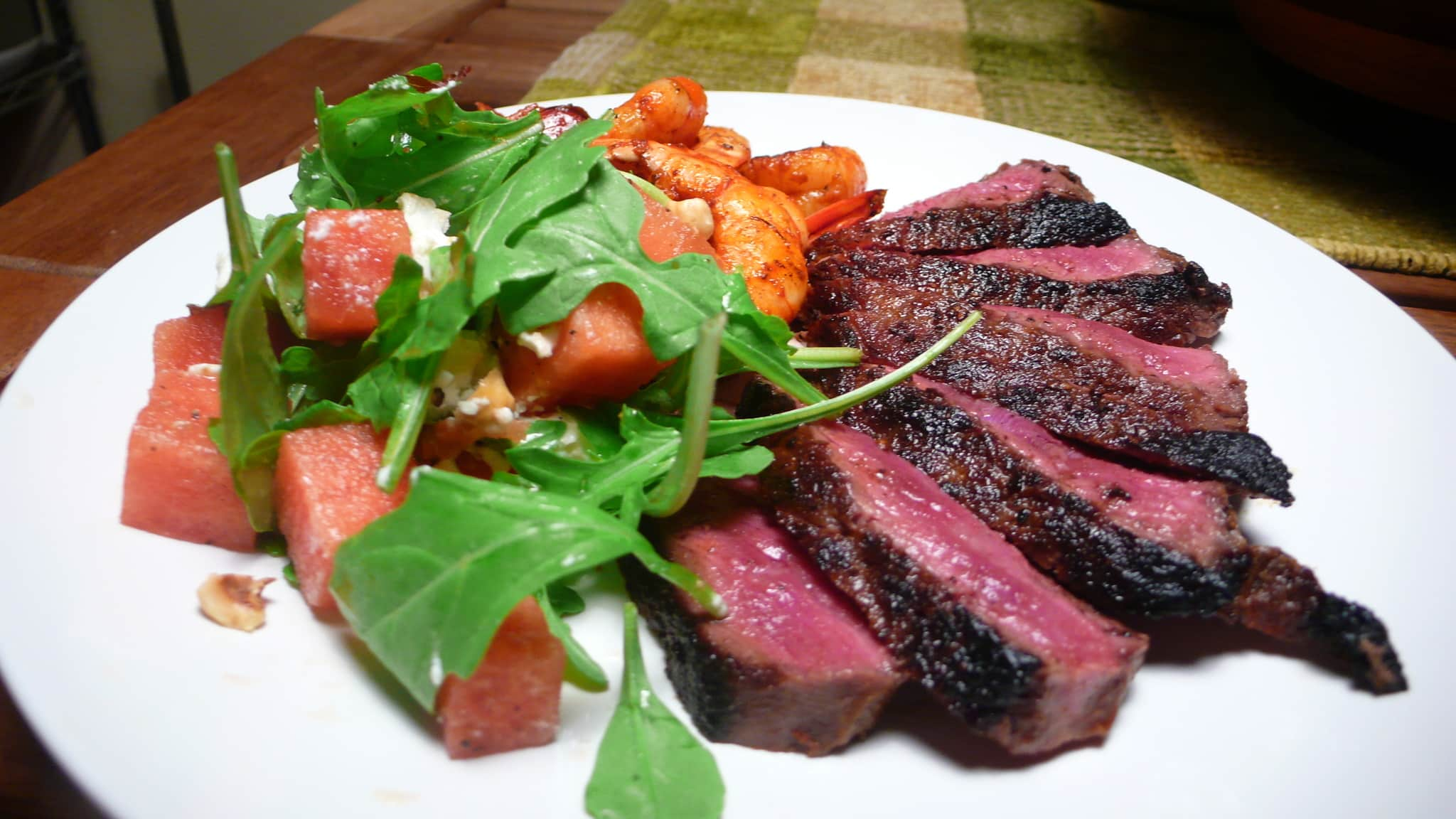 Susan's Dry Rubbed Steak & Shrimp with Watermelon Salad Quick Weeknight Meals Recipe Contest 2009: gallery image 2