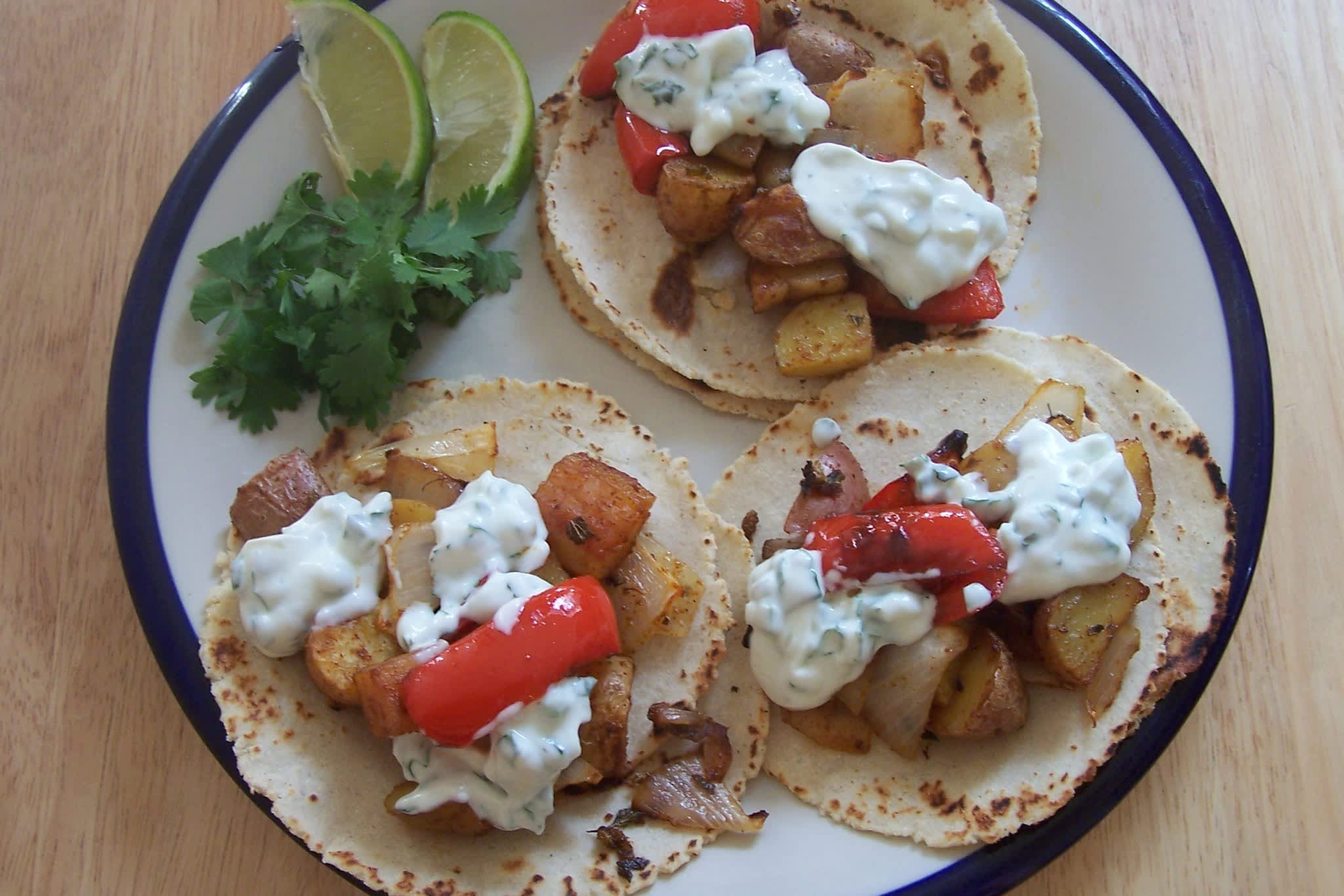 Taylor's Roasted Potato Tacos with Creamy Dressing Quick Weeknight Meals Recipe Contest 2009: gallery image 1