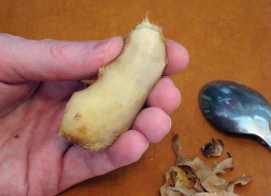 How to Peel Ginger: gallery image 3