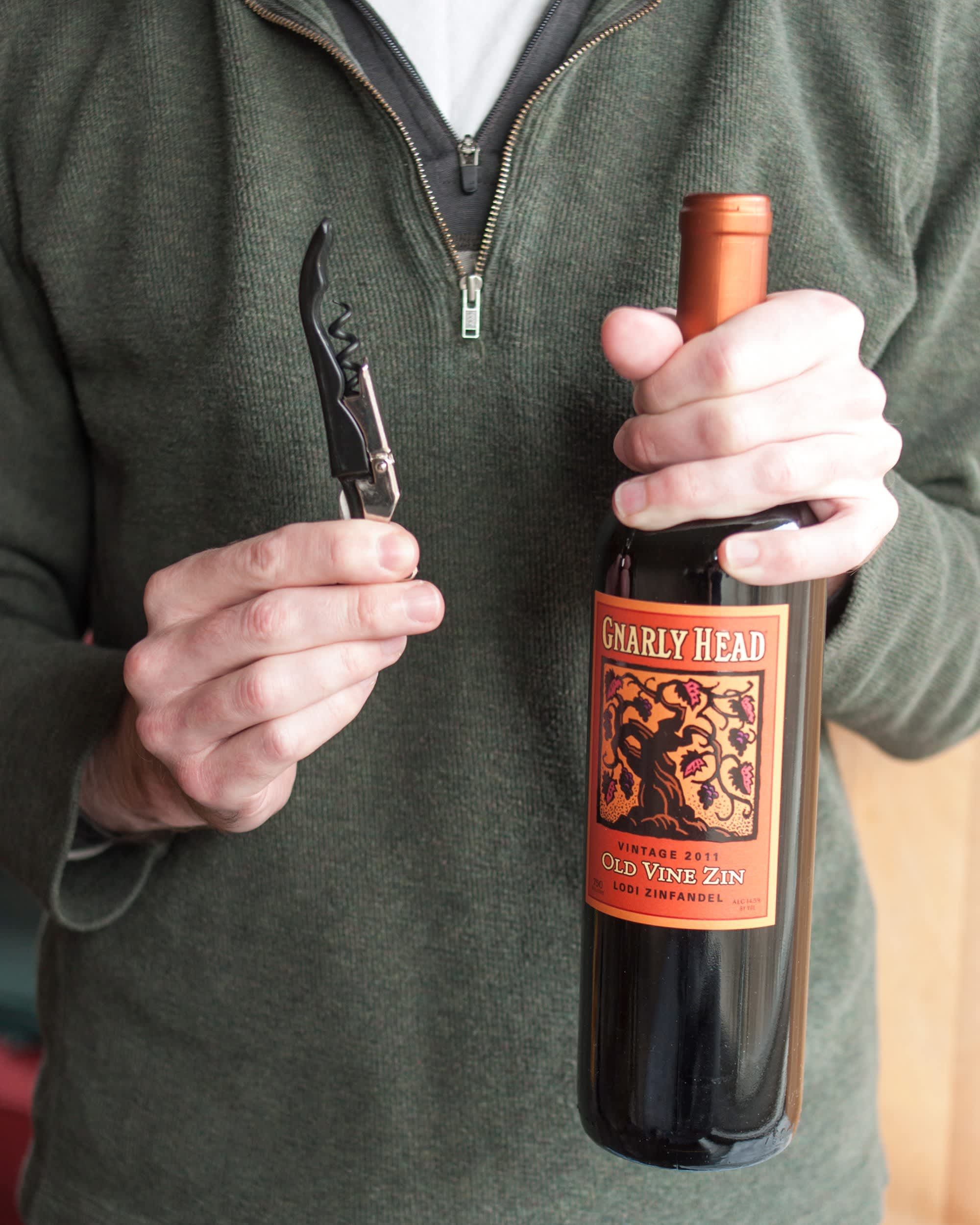 How To Open a Bottle of Wine Using a Wine Key Corkscrew: gallery image 1