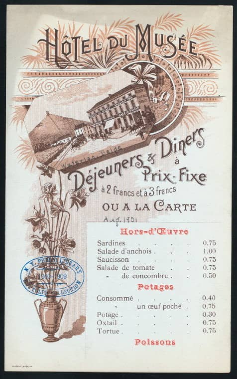 Print and Hang! Menus from the New York Public Library: gallery image 4