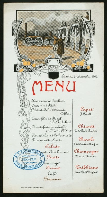 Print and Hang! Menus from the New York Public Library: gallery image 3