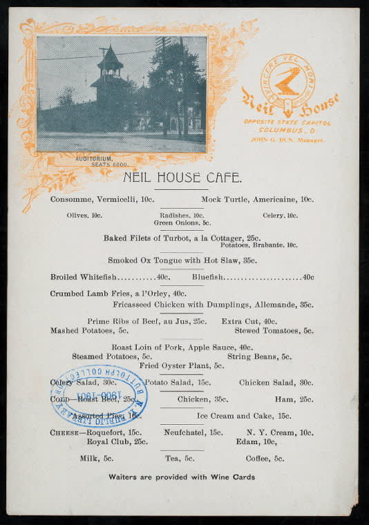 Print and Hang! Menus from the New York Public Library: gallery image 10