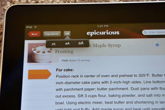 iPad: First Impressions and the Epicurious App: gallery image 5