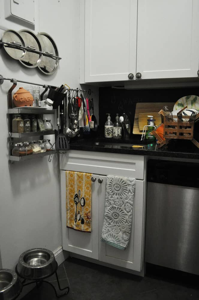 Kristin's Tiny Black and White New York Kitchen: gallery image 2