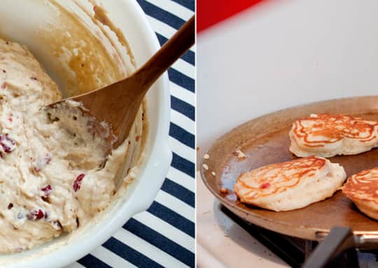 Post-Thanksgiving Recipe: Cranberry Buttermilk Pancakes: gallery image 3