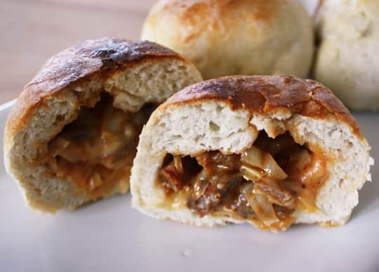 Recipe: BBQ Cabbage & Sausage Stuffed Sandwiches: gallery image 1