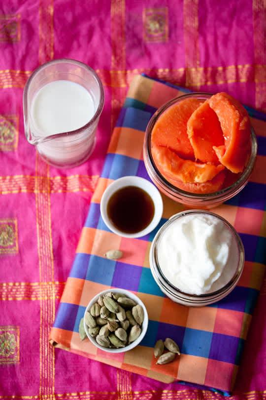 Recipe: Papaya Lassi with Cardamom: gallery image 6