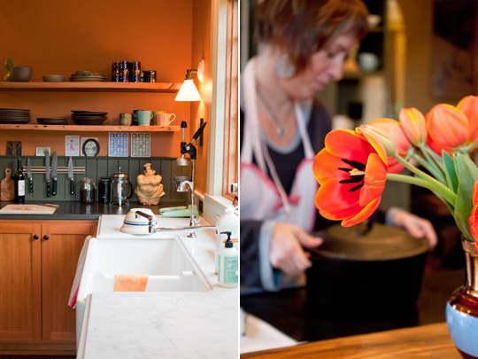 Kitchen Tour: Ginnie and Janie's Warm, Colorful Kitchen: gallery image 15