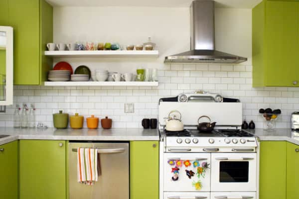 A White & Green Kitchen (with Pops of Color!): gallery image 1