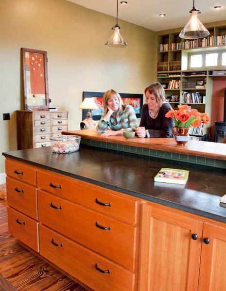 Kitchen Tour: Ginnie and Janie's Warm, Colorful Kitchen: gallery image 8