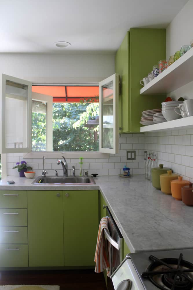 A White & Green Kitchen (with Pops of Color!): gallery image 6