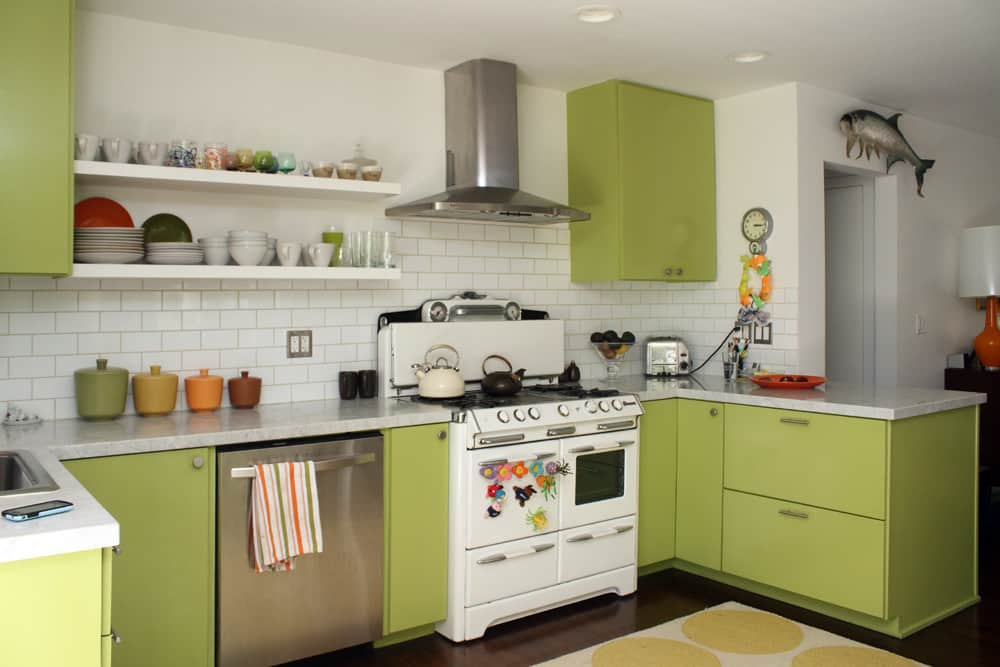 A White & Green Kitchen (with Pops of Color!): gallery image 2