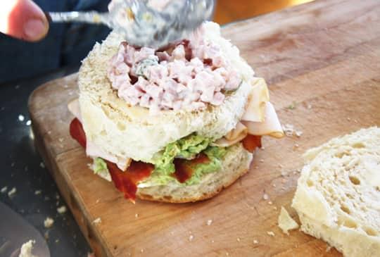 Scandinavian-Inspired Recipe: Avocado & Bacon Club Sandwich Cake: gallery image 7