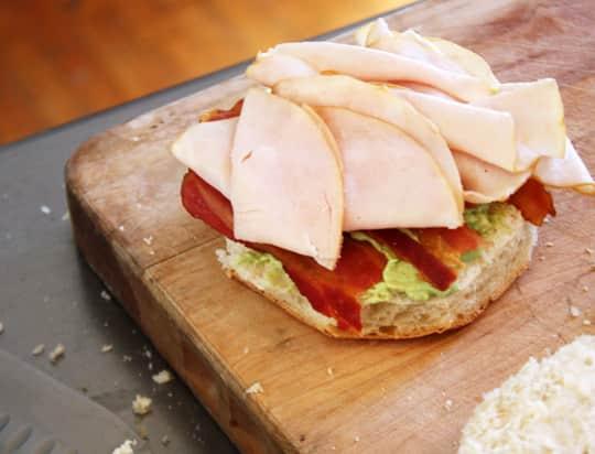 Scandinavian-Inspired Recipe: Avocado & Bacon Club Sandwich Cake: gallery image 5