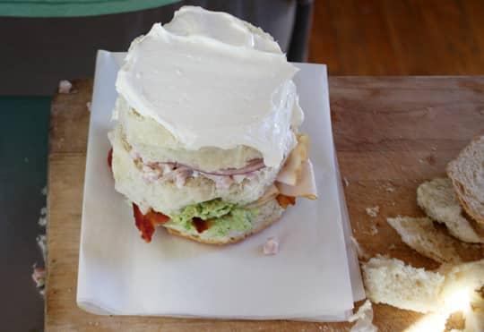 Scandinavian-Inspired Recipe: Avocado & Bacon Club Sandwich Cake: gallery image 9