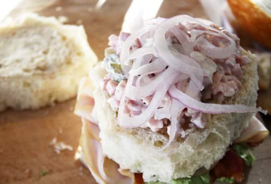 Scandinavian-Inspired Recipe: Avocado & Bacon Club Sandwich Cake: gallery image 8