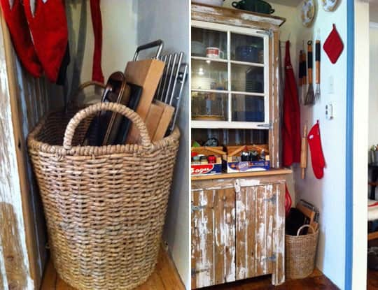 Basket Storage in the Kitchen: Cheap and Pretty Organization!: gallery image 5