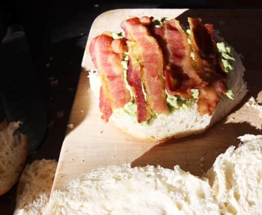 Scandinavian-Inspired Recipe: Avocado & Bacon Club Sandwich Cake: gallery image 4