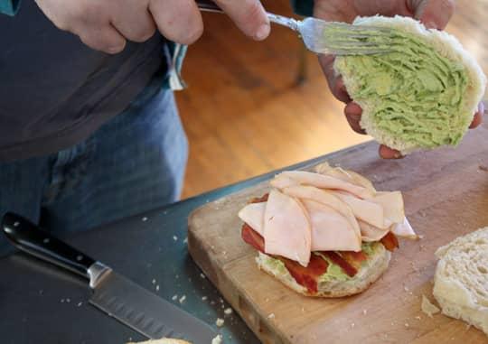 Scandinavian-Inspired Recipe: Avocado & Bacon Club Sandwich Cake: gallery image 6