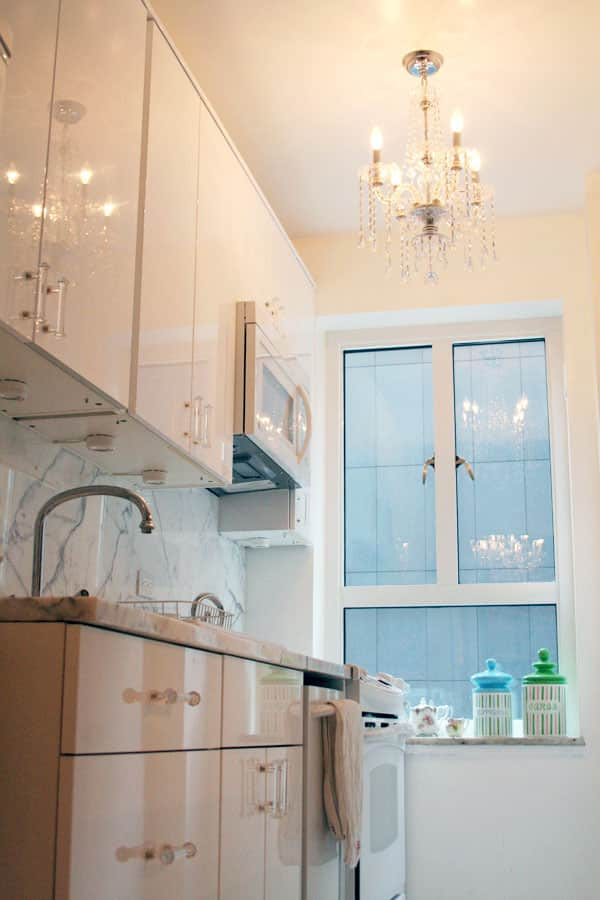 Dixie's Sleek White Kitchen (with Closeted, Colorful Charm!): gallery image 2
