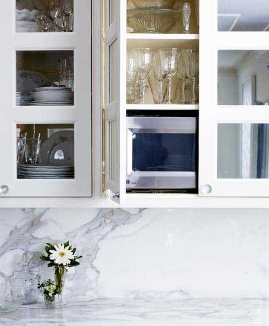 Kitchen Renovation Apartment Therapy: A Microwave In The Cupboard
