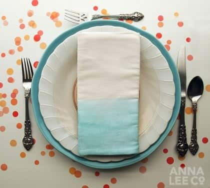 Colorful Dip-Dyed and Paint-Dipped Tableware: 10 Items to Make or Buy: gallery image 6