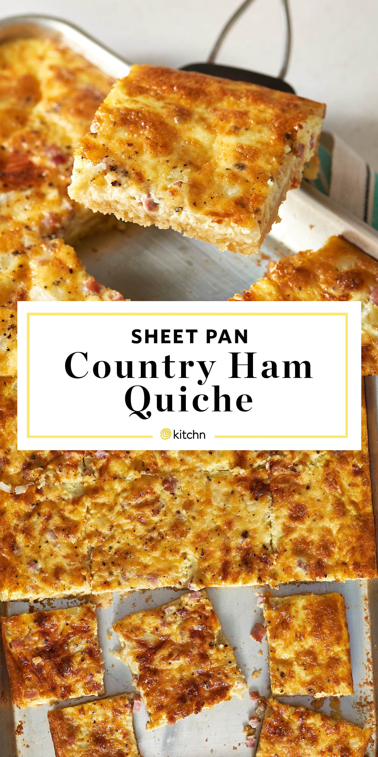 Sheet Pan Country Ham Quiche Recipe
