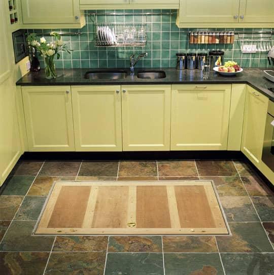 Kitchen Flooring Apartment Therapy: Trapdoor In The Kitchen Floor: Spiral Wine Cellars