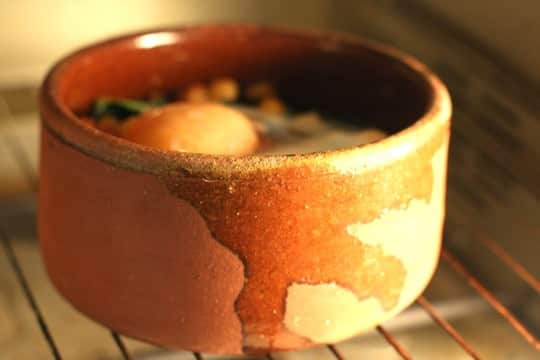 Recipe for One: Chickpeas, Kale, and Sausage with Oven-Baked Egg: gallery image 5