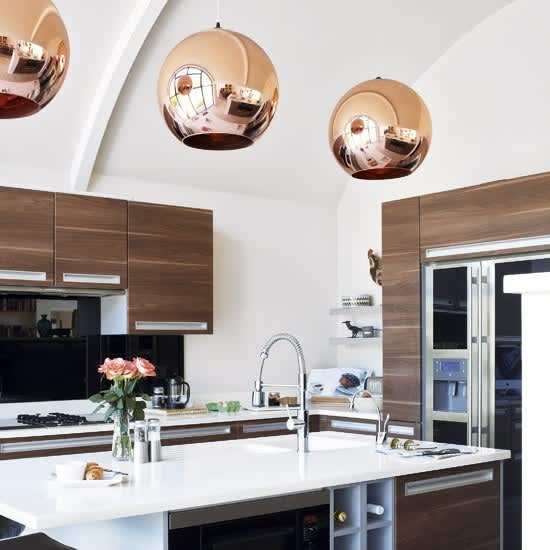 Copper Pendant Lights In The Kitchen: Gallery Image 1