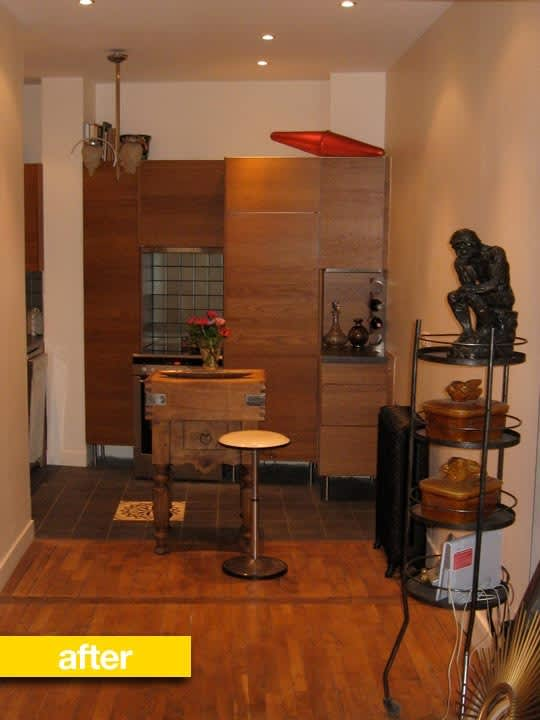 Kitchen Before & After: Debra's Bibliothèque Paris Kitchen Renovation: gallery image 1
