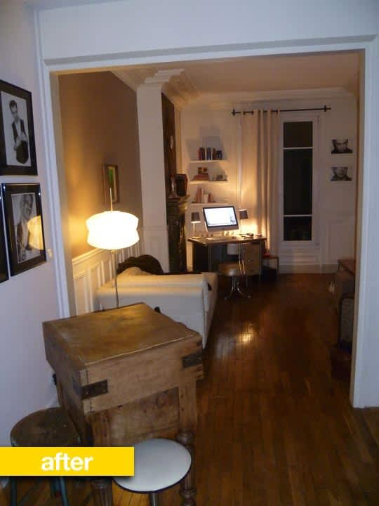 Kitchen Before & After: Debra's Bibliothèque Paris Kitchen Renovation: gallery image 3
