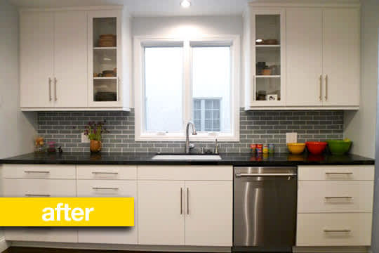 Kitchen Before & After: Julie's Outdated Kitchen Gets a Modern Makeover: gallery image 1