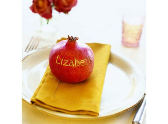 Decorate Naturally: Fall Fruit Place Cards: gallery image 4