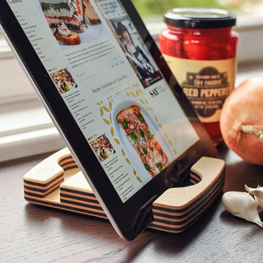 Eco-Friendly, Dishwasher-Safe iPad Stand from Chef Sleeve: gallery image 1