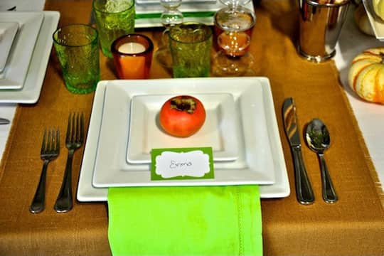 Decorate Naturally: Fall Fruit Place Cards: gallery image 5