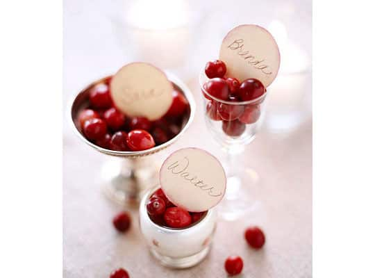 Decorate Naturally: Fall Fruit Place Cards: gallery image 3