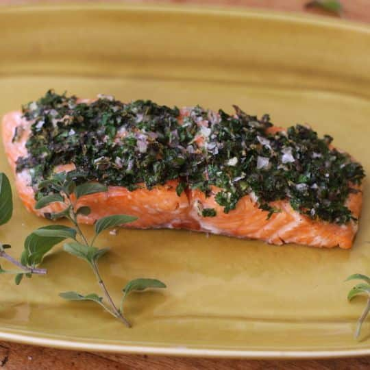 Recipe: Baked Salmon with Herbs & Lemon: gallery image 1