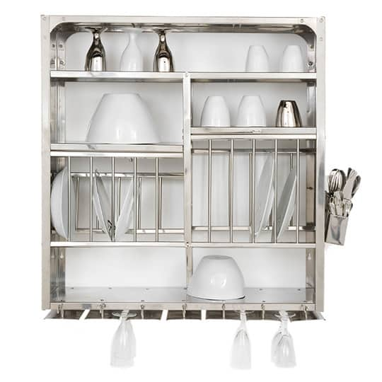 A Luxury Item for Small Kitchens: A Stainless Steel Wall-Mounted Dish Rack: gallery image 1