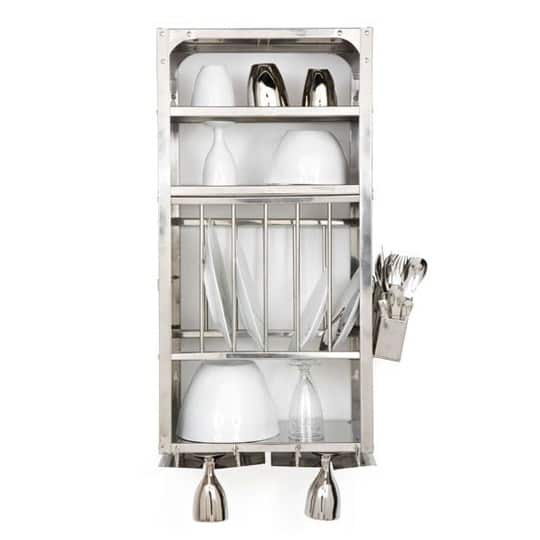 A Luxury Item for Small Kitchens: A Stainless Steel Wall-Mounted Dish Rack: gallery image 4