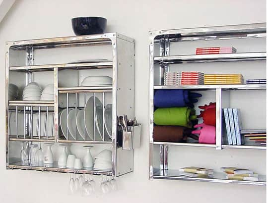 A Luxury Item for Small Kitchens: A Stainless Steel Wall-Mounted Dish Rack: gallery image 2