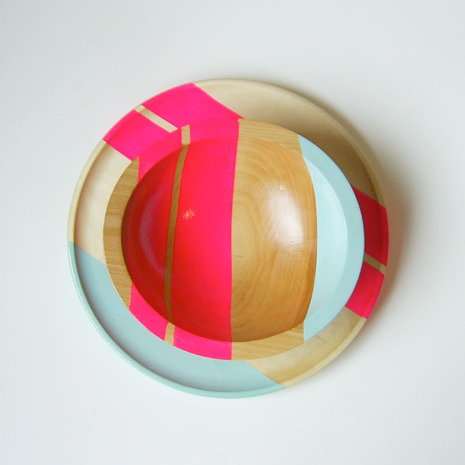 All Things Bright & Neon: Fun Wood Tableware from Nicole Porter Design: gallery image 3