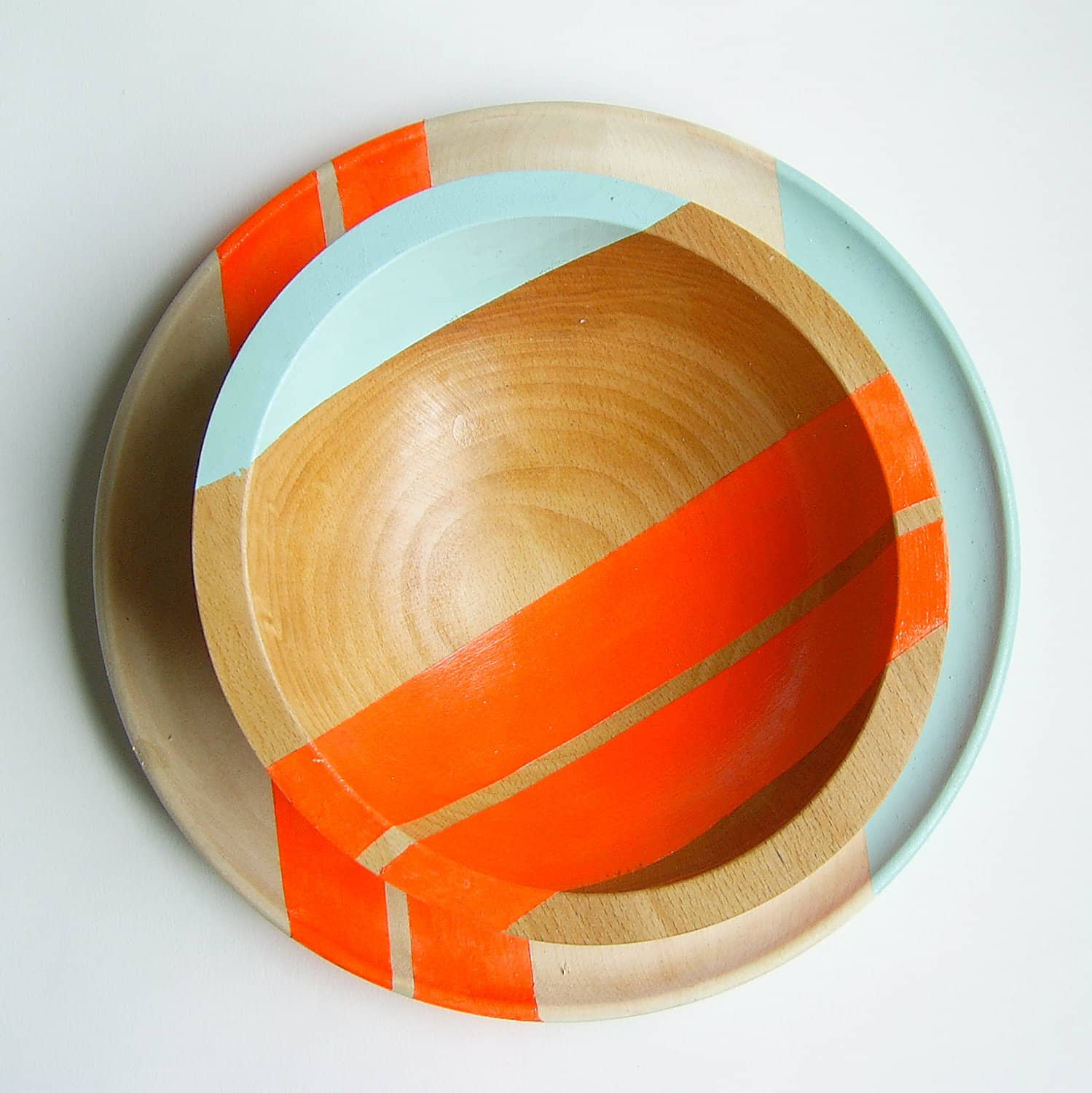 All Things Bright & Neon: Fun Wood Tableware from Nicole Porter Design: gallery image 1