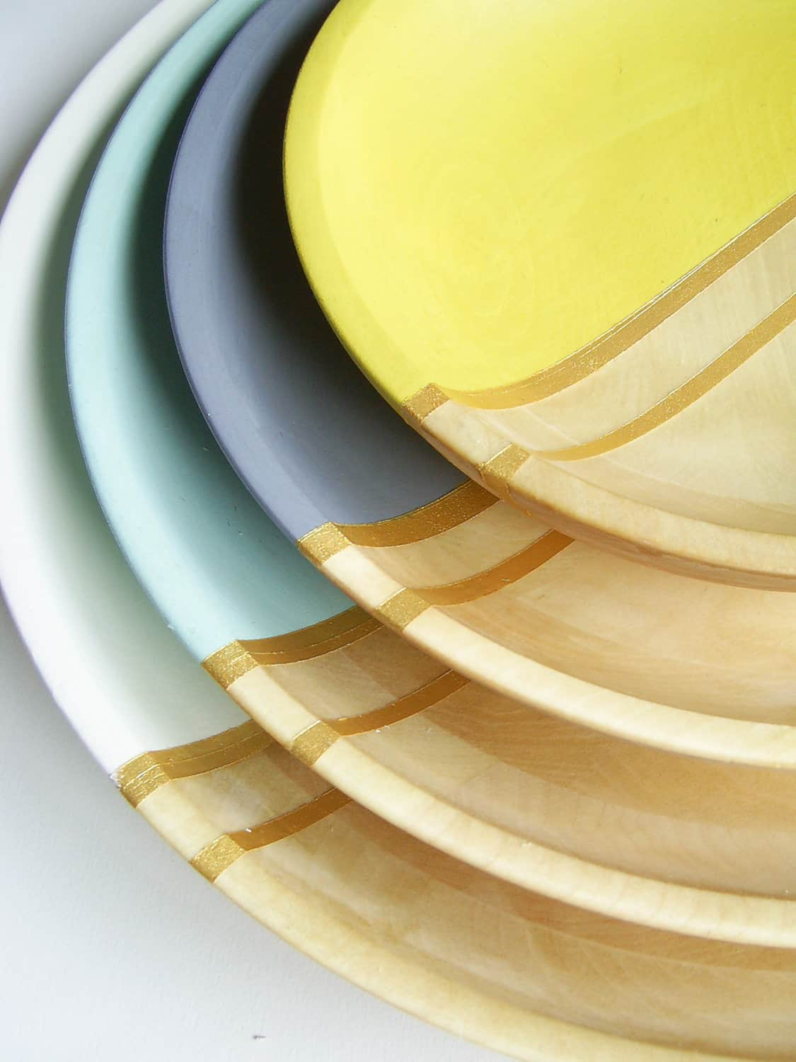 All Things Bright & Neon: Fun Wood Tableware from Nicole Porter Design: gallery image 2