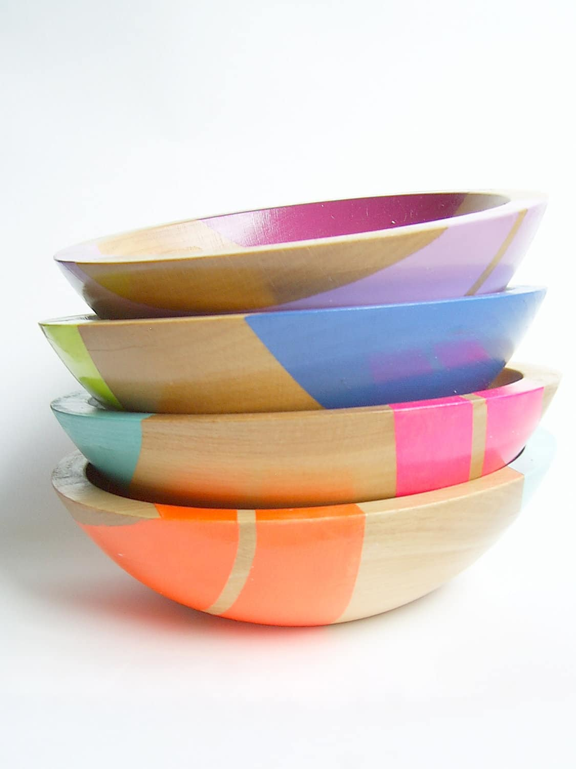 All Things Bright & Neon: Fun Wood Tableware from Nicole Porter Design: gallery image 8