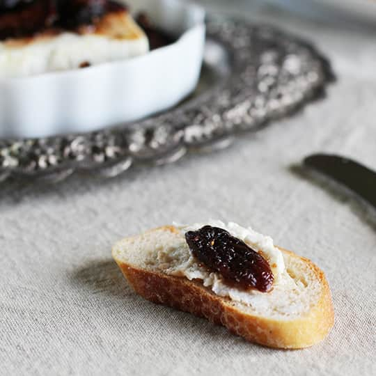 Appetizer Recipe: Roasted Feta Cheese with Fig-Thyme Compote