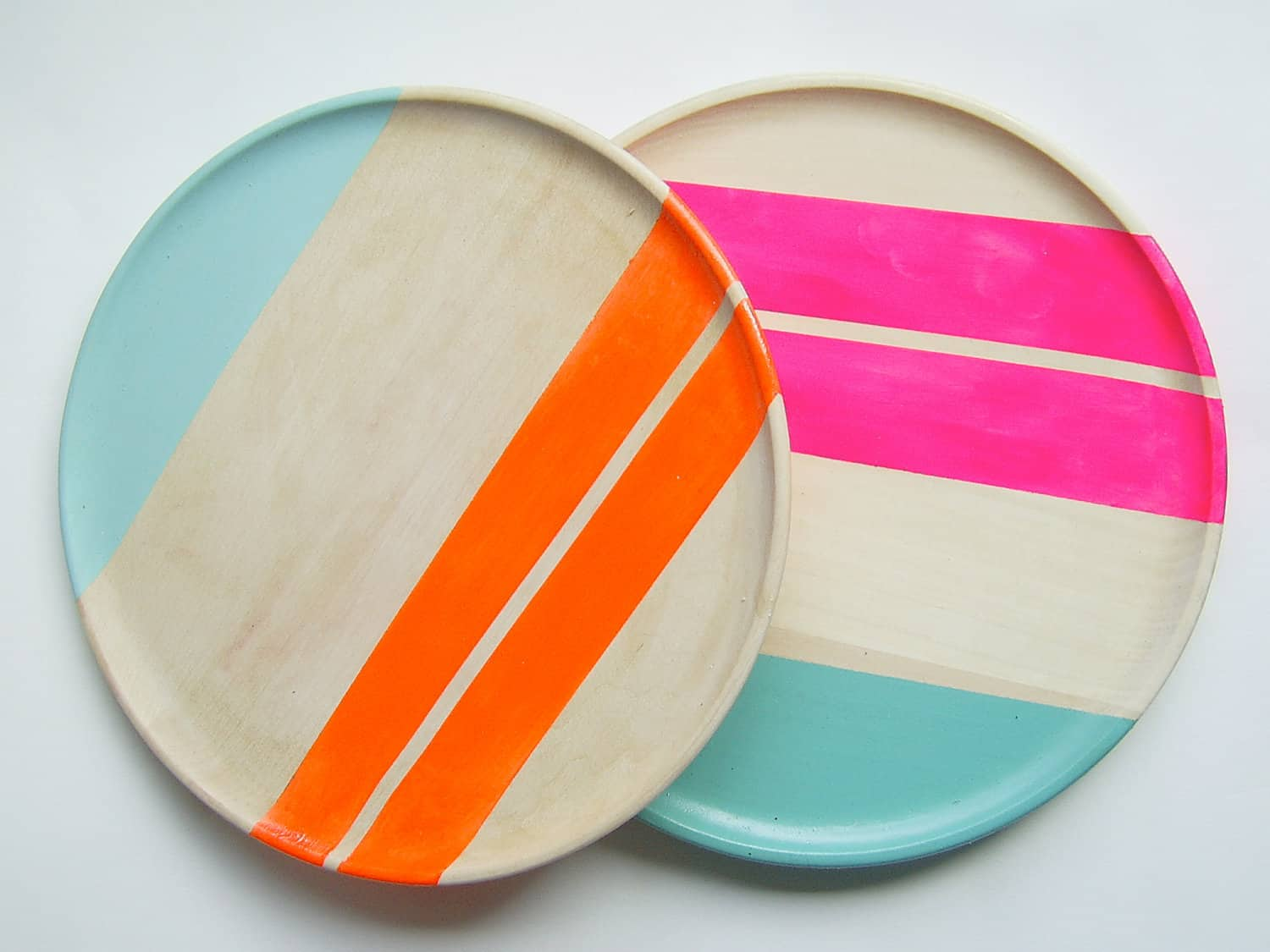 All Things Bright & Neon: Fun Wood Tableware from Nicole Porter Design: gallery image 6